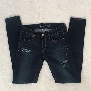 AEO Dark Wash Skinny Jeans